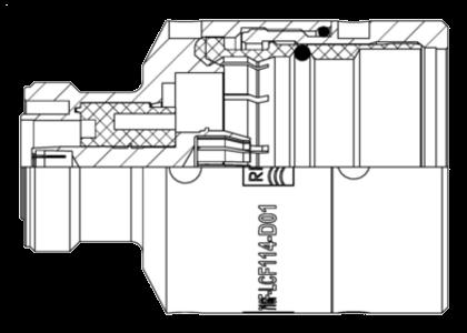 Female Coaxial Cable Connectors Fiber Fusion Splice